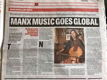 Manx Independent Newspaper mention!